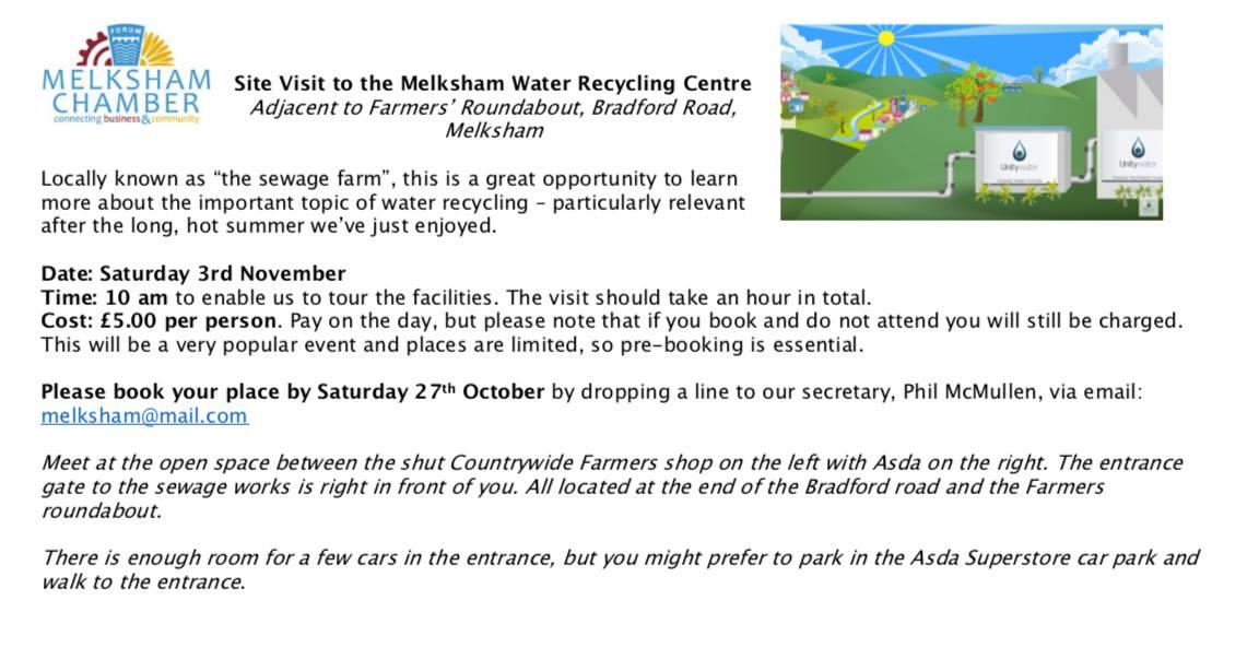 Melksham Sewage Farm Visit
